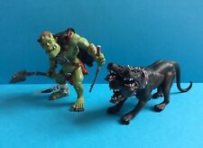 PAPO FANTASY MUTANT ACTION FIGURES X2 * ONE WITH TAGS * CERBERUS AND ORC OGRE