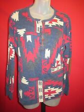 ~RALPH LAUREN Colorful Graphic Southwestern Indian Blanket thermal top XL Shirt~