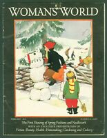 Vintage Woman's World Magazine February 1931 Snowman/Snowhorse Cover