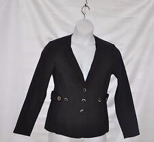 Styled by Joe Zee Button Front Jacket Size S Black