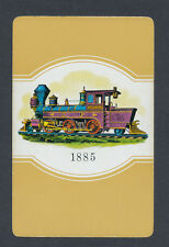 train engine yellow playing card single swap queen of spades - 1 card