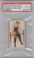 1887 N77 Duke Cigarettes Gymnastic Exercises Forward Wheel Swing Graded PSA 4