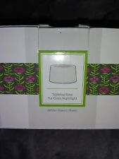 Scentsy White Tabletop Base for Glass Nightlight Warmer, Nib! See photos.