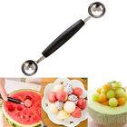 Stainless Steel Cook Dual Double Melon baller ice cream scoop fruit Spoon HK