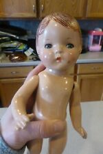 """12.5"""" Composition American Character Sally Sleepy Eyes Antique Doll Patsy Type"""