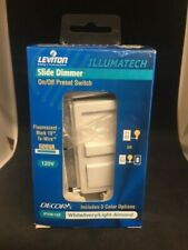 Leviton On/Off Preset Switch Slide Dimmer 120V #Ipx06-10Z Free Shipping