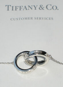 Tiffany & Co Sterling Silver Chain Necklace 1837 Interlocking Circles RRP £345