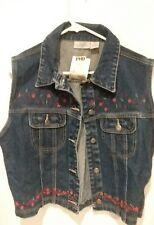 US Women's Vintage Denim Vest Jean Jacket Waistcoat Sleeveless Punk Jacket Coats