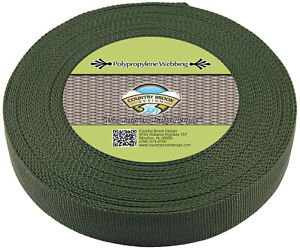Country Brook® 1 1/2 Inch Olive Drab Green Heavy Polypro Webbing, 50 Yards
