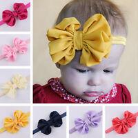 CUte Baby Kids Girls Toddler Newborn Big Headband Headwear Hair Bow Accessories