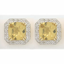 0.13ct 14k Yellow Gold Diamond Huggie Earring