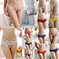 Women Summer Low-Rise Briefs Lace Panties Thongs G-string Lingerie Underwear