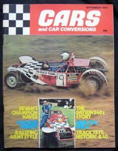 CARS & CAR CONVERSIONS Magazine Sept 1972 Fiat 128 Rally DATSUN 240Z
