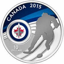 Canada 2015 $10 Fine Silver Coin Winnipeg Jets (No Sales Tax)