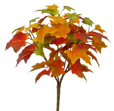 Artificial Maple Leaf Fall Bush Plant Spray Thanksgiving Autumn Harvest Floral