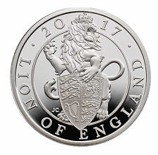 1 Oz Ounce Silver Proof Queens Beasts Lion of England 2 £ UK 2017 Royal Mint COA