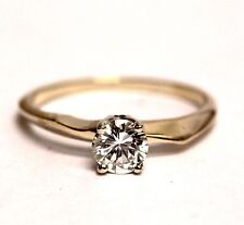 14k yellow gold GIA certified .55ct VS1 I round diamond engagement ring 1.9g