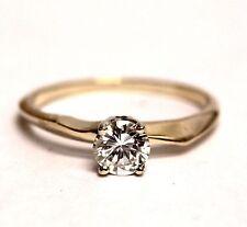 14k yellow gold GIA certified .55ct VS1 I round diamond engagement ring 1.9g