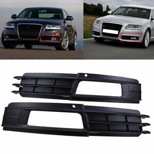 Front Fog Light Grilles Bumper Trim Cover Fit For Audi A6 C6 2008-2011 2009 2010