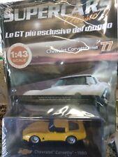 CHEVROLET CORVETTE 1980 SUPERCARS GT COLLECTION 1:43 #77 - DIE CAST MIB