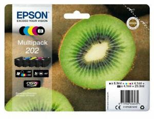 Genuine Epson202 Multipack Kiwi Fruit Ink C13T02E74010 for XP-6000 XP-6005 Boxed