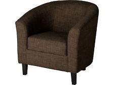 Seconique Tempo Tub Chair - Dark Brown Fabric