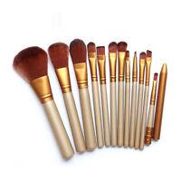 12 Pro Makeup Brushes Set Kabuki Foundation Powder Eyeshadow Lip Brush Tool Mini