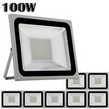 New listing 8x 100W Led Flood Light Cool White Outdoor Landscape Spotlight Garden Yard Lamp