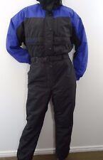 Vintage COLUMBIA Womens SKI SUIT Snow Bib One piece Snowsuit Black Purple