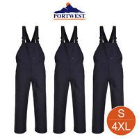 Engineers Bib & Brace Trousers Dungarees Work Workwear Student S - 4XL C881