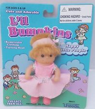 L'il Bumpkins Happy Little People Doll Uneeda 1998 Blonde Pink #70499 RARE