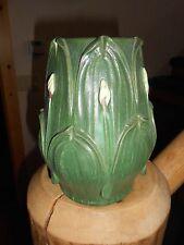 #245 Ephraim Faience Pottery Hosta Vase Retired 3/21/2006