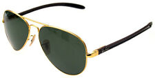 RAY BAN 8307 58 REMIX AVIATOR GREEN POLARIZED GOLD SUNGLASSES POLARIZZATO G15