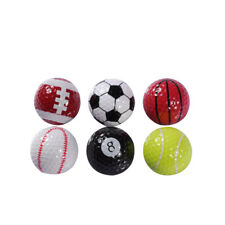 Colorful 6Pcs Novelty Sports Golf Balls Golf Game Indoor Outdoor Training