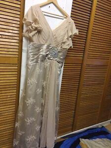 "UNBRANDED- WEDDING -EVENING —DRESS  — SIZE — UK- 16"" —— EUR—- —- 44"" — US —14"""