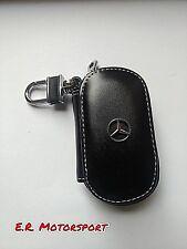 Portachiavi in cuoio NERO contenitivo Mercedes Classe A B C E
