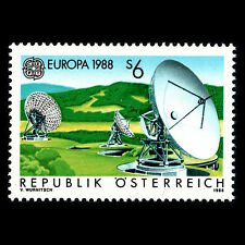 "Austria 1988 - EUROPA Stamp ""Communication"" Technology - Sc 1429 MNH"