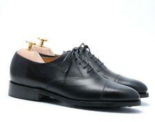 Barker Men`s Black Capped Oxfords Dainte Sole Shoes - Size 6.5 E