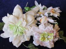 "Vtg Millinery Flower Collection Ivory White Slightly Shabby 2-5"" German H2502"