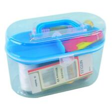 Home Travel Sewing Tools Kit Colored Thread Safety Pins Needles Scissor Box