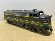 2 Rail O Gauge Atlas F7 Diesel Reading #250 Runs great