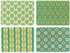 NEW Set of 4 Dining Table Placemats and Coasters Persian Textiles Design