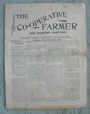 "0547  Antique ""The Co-operative Farmer"" Newspaper Sussex New Brunswick 1896"