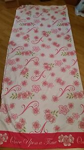 2011 DISNEY Princess Franco Once Upon A Time Full Flat Sheet Pink Flowers FABRIC