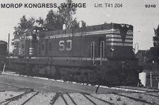 AK UNREAD Morop Congress Sweden litt. T41 204 Baden Model järnvägs (G2570)