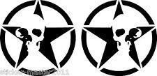 Tank Aufkleber  Für Harley Suzuki Chopper Bike  R. u. L.  Skull Star rund  NEU