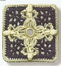 Crochet Pattern ~ ANGELS AROUND THE WORLD Afghan Square ~ Instructions