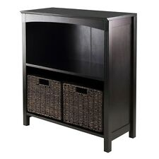 Winsome Wood 3pc Storage 3-tier Shelf With 2 Small Baskets 92378