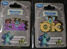 OK FrAtErNiTy+EEK SoRoRiTy~PiNs~WEEK #3-MU~Monsters University~NWT~Disney Store