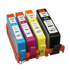 Chipped HP 364XL set of 4 Ink Cartridges Photosmart B110a B109 B109a B109c B109d